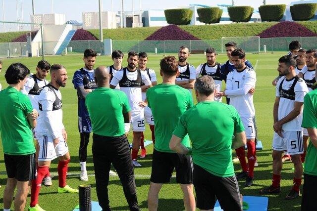 تمرین ملی پوشان در قطر