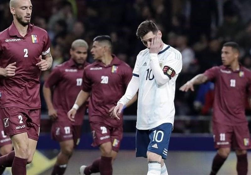 شکست سنگین آرژانتین مقابل ونزوئلا در شب بازگشت لیونل مسی