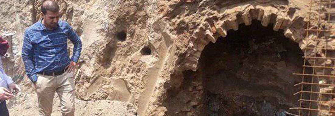 کشف یک آب انبار تاریخی در مشهد