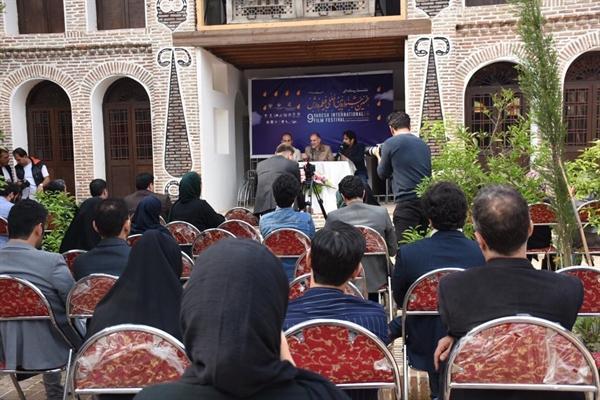 برگزاری نشست خبری نهمین جشنواره بین المللی فیلم وارش در خانه آقاجان نسب بابل