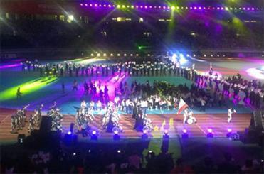 کاروان غدیر ایران در مراسم افتتاحیه رژه رفت