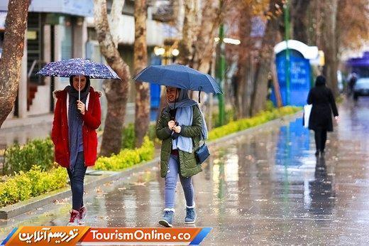 پیش بینی بارش باران پنج روزه در 20 استان