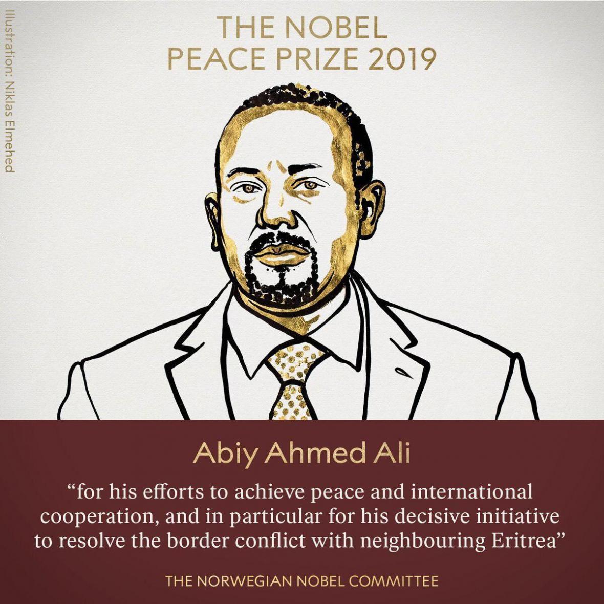 نوبل صلح 2019 به نخست وزیر اتیوپی رسید