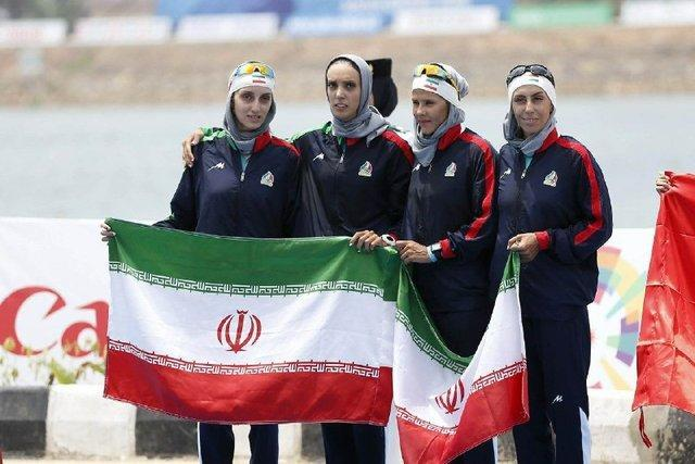 دومین مدال قایقرانی ایران در بازی های آسیایی ، قایق چهارنفره بانوان به مدال نقره رسید