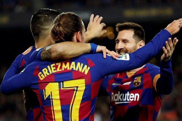 خط حمله بارسلونا قوی تر از کل تیم های لالیگا