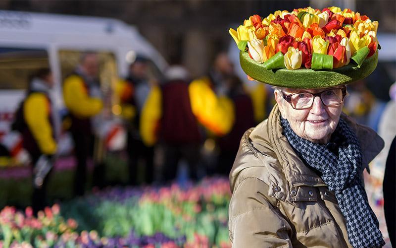 تصاویری جذاب از جشنواره گل لاله در هلند