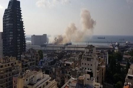 جزییات وقوع انفجار مهیب در بندر بیروت لبنان