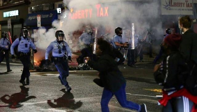 خبرنگاران سرکوب شدید معترضان به نژادپرستی در فیلادلفیا