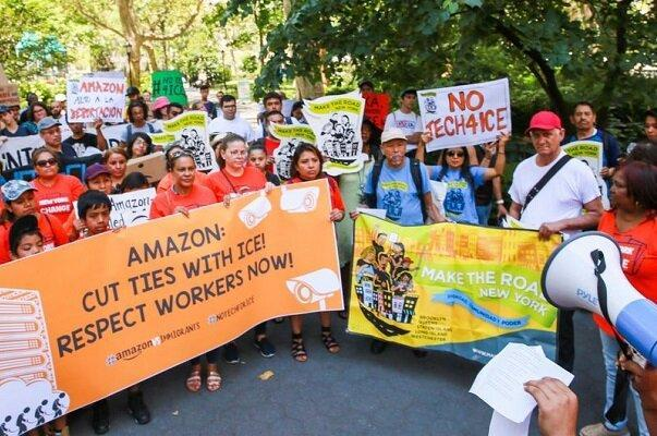 شکایت از آمازون به علت اخراج یکی از کارگران
