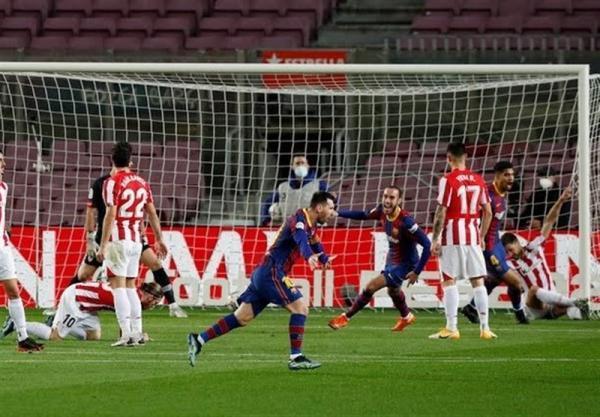 لالیگا، بارسلونا به زحمت از سد بیلبائو گذشت و از رئال مادرید سبقت گرفت