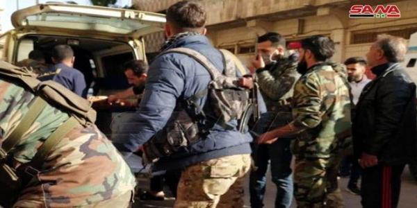 خبرنگاران حمله تروریستی به اتوبوس حامل نظامیان سوریه چند کشته و زخمی برجای گذاشت