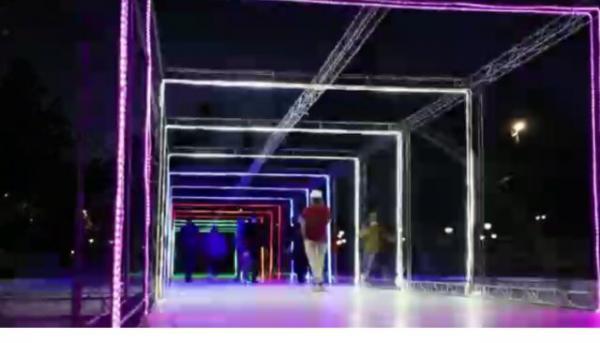 ایجاد تونل نوری در بوستان ملت