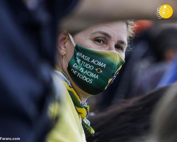 (تصاویر) رژه عظیم موتورسواران برزیلی با رئیس جمهور