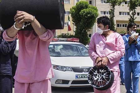 دستبند پلیس بر دستان 219 دزد و زورگیر ، کشف 115 دستگاه خودرو و موتورسیکلت مسروقه در یک ماه