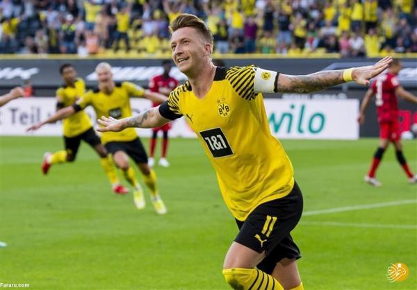 خلاصه بازی دورتموند 5 - 2 آینتراخت فرانکفورت؛ درخشش هالند