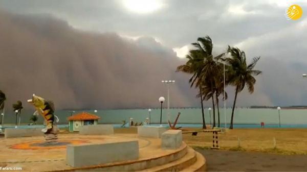 تور ارزان برزیل: تصاویر آخرالزمانی از طوفان شن در برزیل